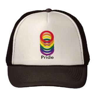 Gay Pride Marriage Rainbow Rings Hat