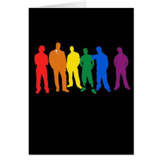 GAY PRIDE MEN GREETING CARD