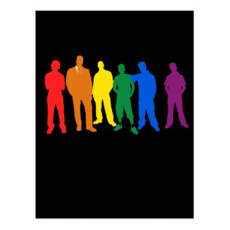 GAY PRIDE MEN POST CARD
