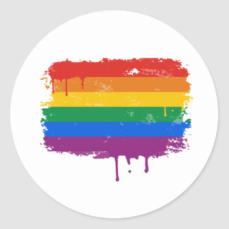 Gay Pride Merchandise Classic Round Sticker