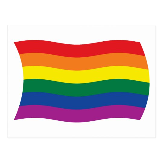 Gay Pride Movement Flag Postcard