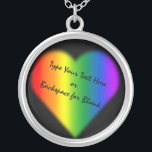 """Gay Pride Necklace Personalized Rainbow Love Gift<br><div class=""""desc"""">Rainbow Love Necklace Unisex Customizable Gay Pride Costume Jewelry Personalized Lesbian Love Necklaces, Gay Pride Gifts Stylish Custom Rainbow Pride Necklaces Holiday Keepsake GBLT Your Name Here Homosexual Love Jewelry, Same-Sex Love Accessories & Gay Pride for Men Women Customizable Gay Pride Necklace Gay Pride Women's & Men's Weddings, Christmas, Birthdays,...</div>"""