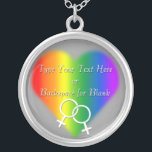 "Gay Pride Necklace Personalized Rainbow Love Gift<br><div class=""desc"">Rainbow Love Necklace Women's Customizable Gay Pride Costume Jewelry Personalized Lesbian Love Necklaces, Gay Pride Gifts Stylish Custom Rainbow Pride Necklaces Holiday Keepsake GBLT Your Name Here Homosexual Love Jewelry, Same-Sex Love Accessories & Gay Pride for Men Women Customizable Gay Pride Necklace Gay Pride Women's & Men's Weddings, Christmas, Birthdays,...</div>"