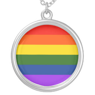 Gay Pride Necklace! Silver Plated Necklace