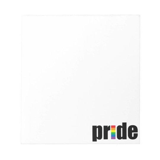 Gay Pride Notepad