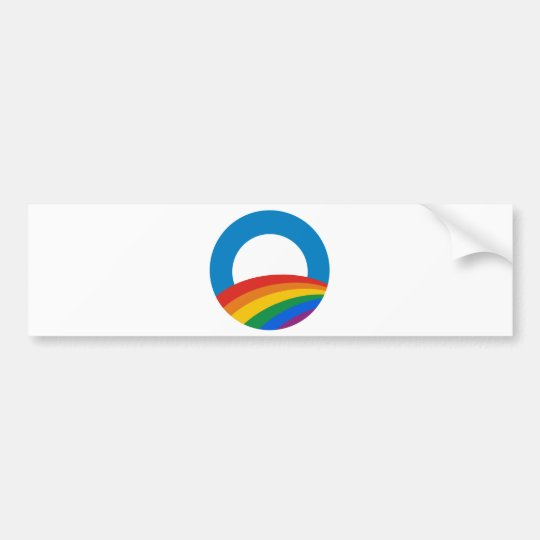 Gay Pride Obama Bumper Sticker