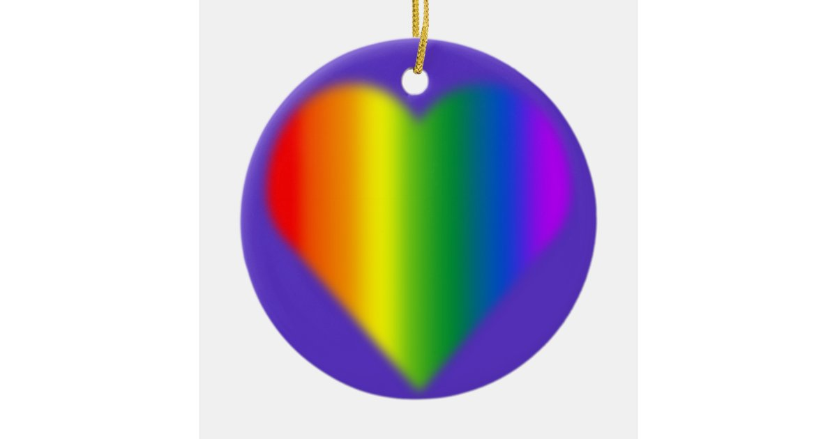 Gay pride ornament personalized rainbow love gifts zazzle