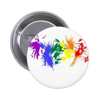 Gay Pride Paint 2 Inch Round Button