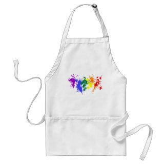 Gay Pride Paint Adult Apron