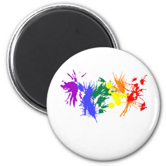 Gay Pride Paint 2 Inch Round Magnet