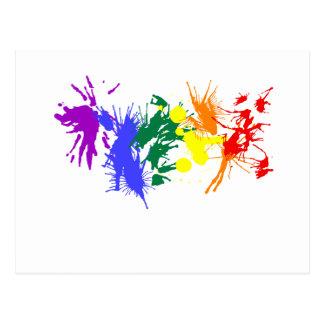 Gay Pride Paint Postcard