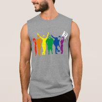 Gay Pride Parade People Rainbow Graphic Sleeveless Shirt