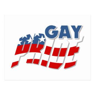 Gay Pride Patriotic Postcard