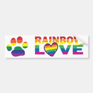 Gay Pride Paw Print Car Bumper Sticker