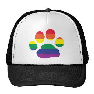 Gay Pride Paw Print Hat