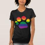 Gay Pride Paw Print T Shirt