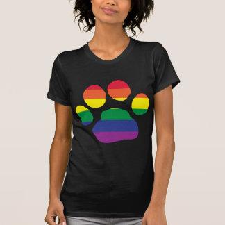Gay Pride Paw Print Tee Shirt