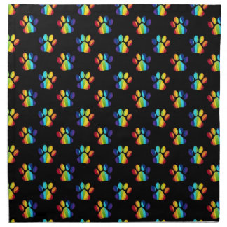 Gay Pride Pawprint Bags, Home Decor Items Napkin