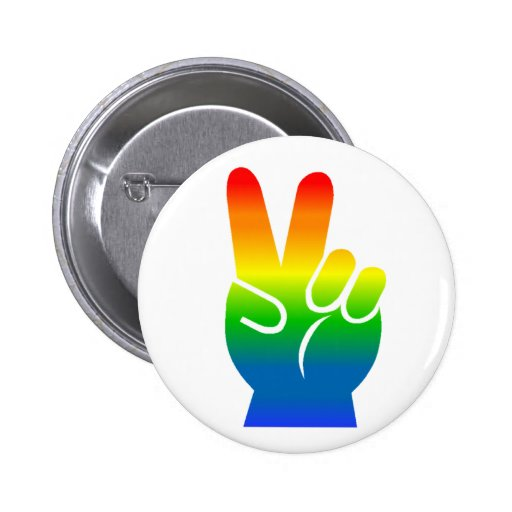 Gay Pride Peace button