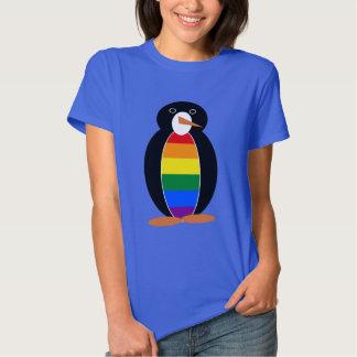 Gay Pride Penguin -- LGBT Penguin Tee Shirt