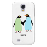 Gay Pride Penguins Holding Hands Samsung Galaxy S4 Case