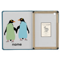 Gay Pride Penguins Holding Hands iPad Mini Retina Cover