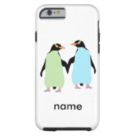 Gay Pride Penguins Holding Hands Tough iPhone 6 Case