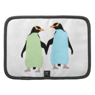 Gay Pride Penguins Holding Hands Folio Planners