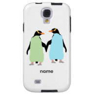 Gay Pride Penguins Holding Hands Galaxy S4 Case