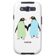 Gay Pride Penguins Holding Hands Galaxy SIII Case