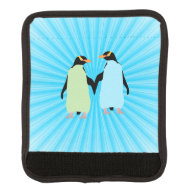 Gay Pride Penguins Holding Hands Handle Wrap