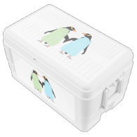 Gay Pride Penguins Holding Hands Igloo Chest Cooler