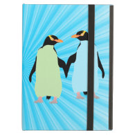 Gay Pride Penguins Holding Hands iPad Air Cover