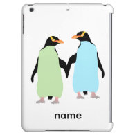 Gay Pride Penguins Holding Hands iPad Air Covers