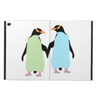 Gay Pride Penguins Holding Hands Powis iPad Air 2 Case