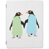 Gay Pride Penguins Holding Hands iPad Cover