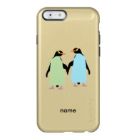 Gay Pride Penguins Holding Hands Incipio Feather® Shine iPhone 6 Case
