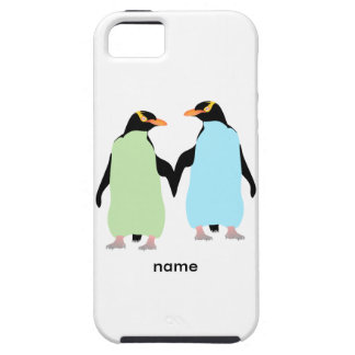Gay Pride Penguins Holding Hands iPhone SE/5/5s Case