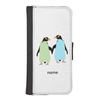 Gay Pride Penguins Holding Hands iPhone SE/5/5s Wallet