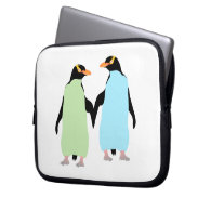 Gay Pride Penguins Holding Hands Laptop Sleeve