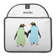 Gay Pride Penguins Holding Hands Sleeves For MacBook Pro