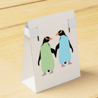 Gay Pride Penguins Holding Hands Party Favor Boxes