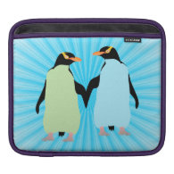 Gay Pride Penguins Holding Hands Sleeve For iPads