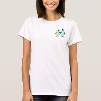 Gay Pride Penguins Holding Hands T-Shirt