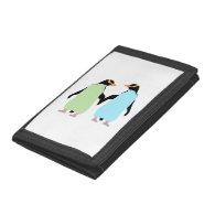 Gay Pride Penguins Holding Hands Trifold Wallets