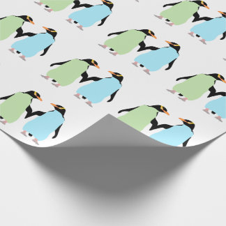 Gay Pride Penguins Holding Hands Wrapping Paper