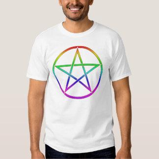 Gay Pride Pentacle Tee Shirt