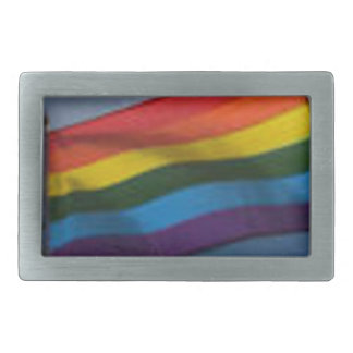 Gay Pride Pewter  Wear your self-expression Rectangular Belt Buckles