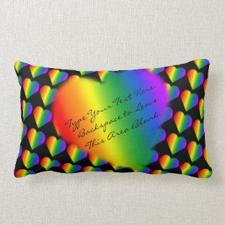 Gay Pride Pillow Custom Rainbow Love Throw Pillow