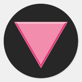 Gay Pride Pink Triangle Classic Round Sticker